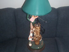 Extremely Rare! Pink Panther Golfing Big Polyester Table Lamp Figurine Statue