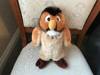"DISNEY WINNIE THE POOH OWL SOFT TOY PLUSH 12"" VGC"
