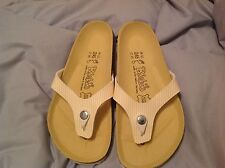 Birkenstock BIRKIS'S MARTINA NARVICS STRIPED SOFT YELLOW Women's U.S. 7M EU 38