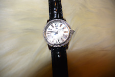DAVID YURMAN Watch with Diamonds, Pearl Face, Croc Band AUTH, $4878