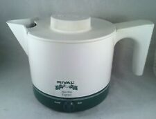 Rival Hot Pot Express Electric Kettle Water Heater Boiler White/Green no. 4070/3
