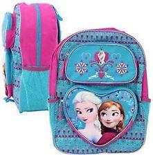 "CUTE Disney Frozen Pop-Up Elsa and Anna School Kindergarten  Backpack 16"" Blue"