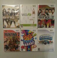 Nintendo Wii Game Lot Bundle 6 Games