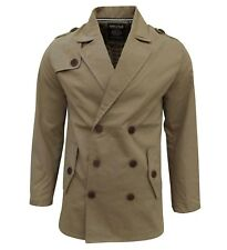 Soul Star Men's Trench Mac Jacket Coat Tan