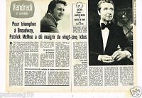 Coupure de presse Clipping 1973 (2 pages) Patrick McNee