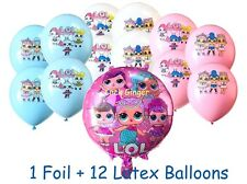 LOL Surprise Doll Pink Foil + 12 Latex Helium Quality Girls Party Decoration