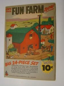 1950's Own This Fun Farm Now 24 Piece Paper Set & Envelope Reed & Assoc Chicago