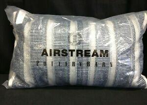 Pottery Barn Airstream Coronado Striped indoor outdoor throw lumbar pillow blue