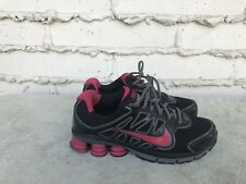 EUC NIKE SHOX QUALIFY 2 + RUNNING SHOE WOMEN SIZE US 7.5 BLACK RED 442115-060