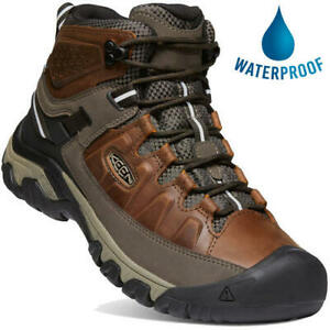 Keen Targhee III Mid WP Mens Waterproof Walking Hiking Boots Brown Size 8-13