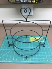 3 Tier PIE PLATE STAND - Wrought Iron Triple Rack Black