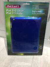 IPAD 2 + 3 ULTRA LIGHT - EASY ATTACH - COVER CASE SHELL PROTECTION - BLUE - NEW