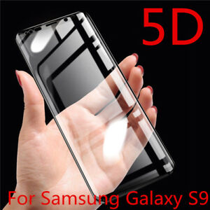 5D Screen Tempered Glass Protector Cover for Samsung S9 Note 10 Plus S20 Ultra
