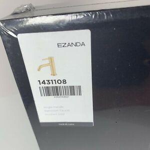 EZANDA Brass Single Handle Bathroom Faucet Pop-up Sink Drain Assembly GOLD NEW