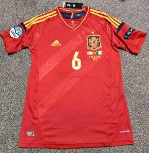 Retro Spain Euro 2012 Champions Final Shirt Jersey INIESTA 6 Barcelona. Size M