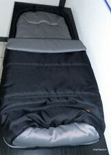 Teutonia Fußsack Sitzauflage schwarz innen grau bzw. silbergrau Neu! OVP!