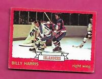 1973-74 OPC #  130 ISLANDERS BILLY HARRIS   ROOKIE EX-MT  CARD (INV# C2351)