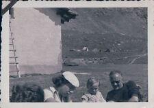 FOTO ALPINISTI AL RIFUGIO VITTORIO SELLA 1939 ALPE LAUSON Valle d'Aosta 7-78