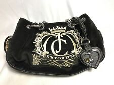 Juicy Couture Crown Crest Baby Fluffy Handbag Black