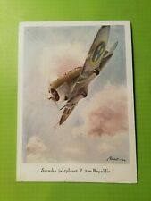 Aviation Postcard. Swedish fighter plane. Posted in 1940 at a mobile postoffice.