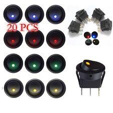 12 V 3 broches 20 pcs DEL Dot Light voiture Bateau Rocker ON/OFF Interrupteur Universel