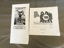 2 Original Sci-Fi Movie Ads Planet Of The Apes 1971 & 1973 Versions