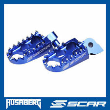 REPOSE CALE PIED STD HUSABERG FE 250 350 501 FX 450 FS TE 250 300 BLEU SCAR
