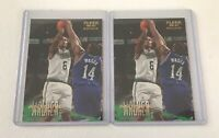 1996-97 Fleer Antoine Walker RC Lot Of 2 Boston Celtics Rookie Wildcats