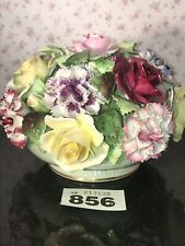 "LARGE 8"" VINTAGE ROYAL ADDERLEY FLORAL BONE CHINA POSY BOWL OF FLOWERS Roses"