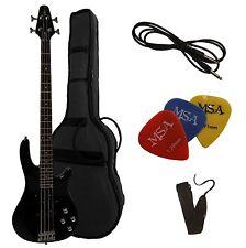 E-bass, jb10 negro, de Vision-con Gig-bolsa + cinturón/banda + Piks-Plektren!!!