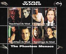 STAR WARS LIAM NEESON EWAN MCGREGOR REPUBLIQUE DU TCHAD 2015 MNH STAMP SHEETLET