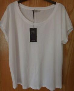 M & S Cotton White T-Shirt BNWT Size 18