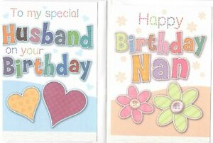 Birthday Card For Relatives, Friends, Family. Various Designs, Multi-Buy