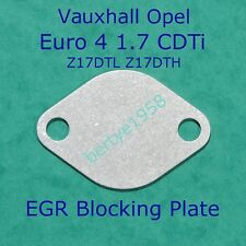 EGR Valve Blank Plate Vauxhall Opel 1.7 CDTi Z17DTL/DTH Euro 4 Astra Corsa Combo