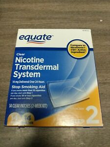 Equate Step 2 Clear Nicotine Transdermal System 14mg 14 Patch Exp 7/2023