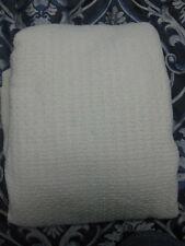 NWOT Ralph Lauren texture woven cotton queen/full size blanket beige