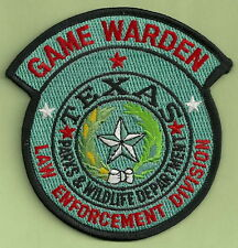 TEXAS WILDLIFE GAME WARDEN POLICE PATCH