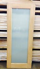 1 Lite White Translucent Glass SOLID Mahogany Timber Door MANY SIZES + CUSTOM