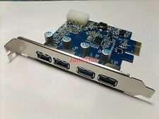 pcie 1x PCI Express USB3.0 4 port card  HUB controller NEC chipset