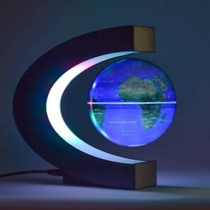 Magnetic Levitation Floating Earth Globe Map With C Shape Base LED Light Cool