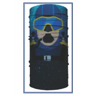 Tubular Bandanas Face Sheild Cover Sun Protection Scuba Diver AP99-S
