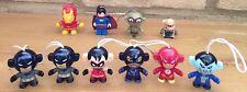 10 x Mini FIGURES Job Lot DC Batman Robin Catwoman Flash Joker Iron Man Superman