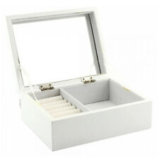 JEWELLERY BOX MIRROR RING NECKLACE BRACELET DISPLAY STORAGE ORGANISER RINGS NEW