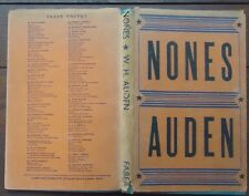 Nones by W.H. Auden - Poetry - 1952 - 1st U.K. Edition - Hardcover w. Jacket