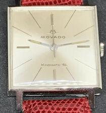 """MOVADO AUTOMATICO KINGMATIC """"S"""" CIOCCOLATINO CAL.510 QUADRATO 1960"""