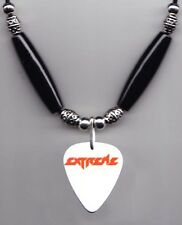 Extreme White Guitar Pick Necklace