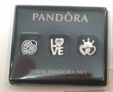 PANDORA FOREVER HEARTS Petites locket charms 792021PCZ discontinued