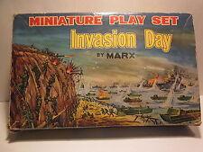 "VINTAGE RARE 1960s, MARX MINIATURE ""INVASION DAY"" PLAYSET W/BOX"