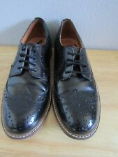 BERTIE LONDON - Ladies Black Leather Brogues Size 39 Worn but in Good Condition