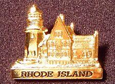 Rhode Island lighthouse pin,Southeast Light,gold plated